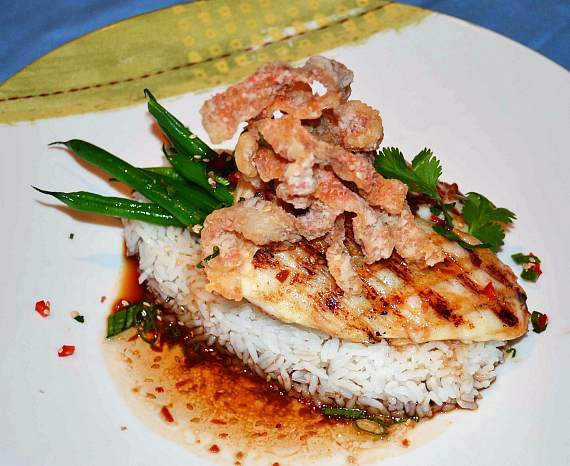 Grilled Swordfish with Lobster Mashed Potatoes