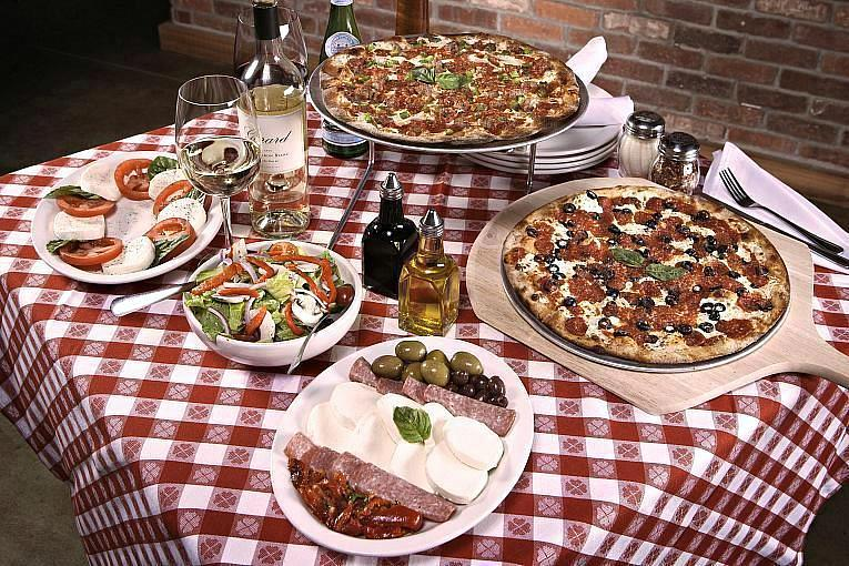 Show Dad a 'Slice' of Appreciation This Father's Day Pizza with Salad and Custom-labeled Wine at Grimaldi's Pizzeria