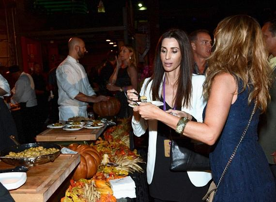 Guests enjoy the food during the dine-around