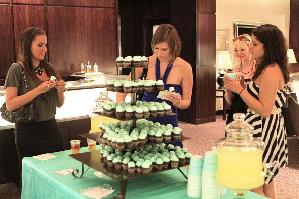 Guests at Fashion's Night Out at Tiffany & Co. inside Caesars Palace shop for fall pieces