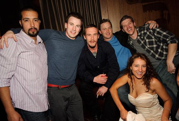 Guillermo Lozano, Chris Evans and friends at Marquee Nightclub