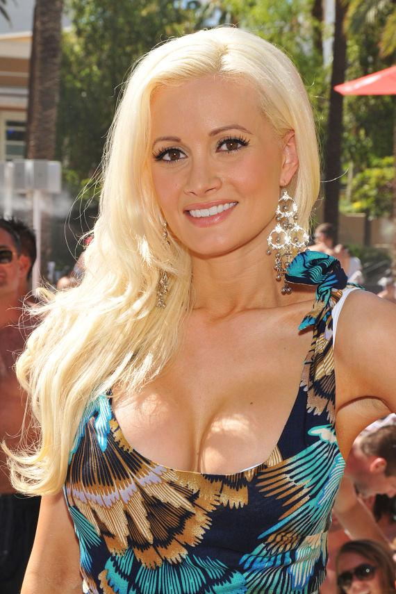Holly Madison at GO Pool DJ booth