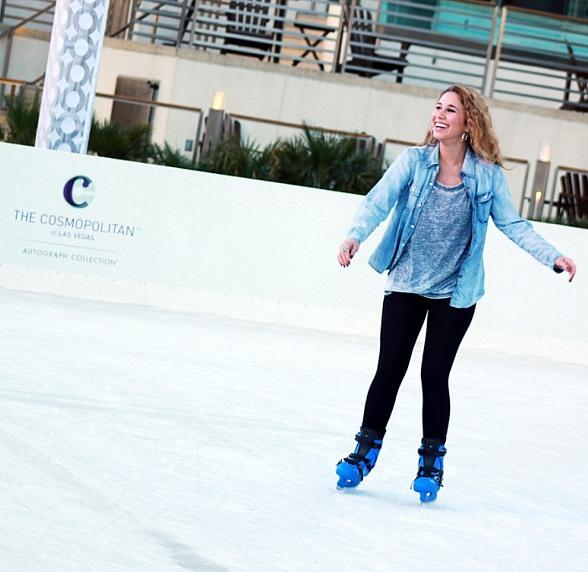 """Last year """"American Idol"""" finalist Haley Reinhart was spotted skating at The Ice Rink"""