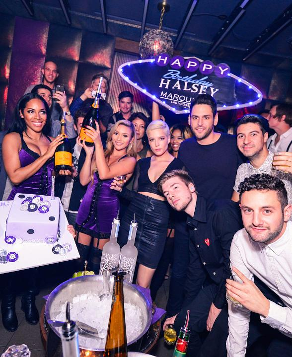 Halsey Celebrates 21st Birthday at Marquee Nightclub in Las Vegas