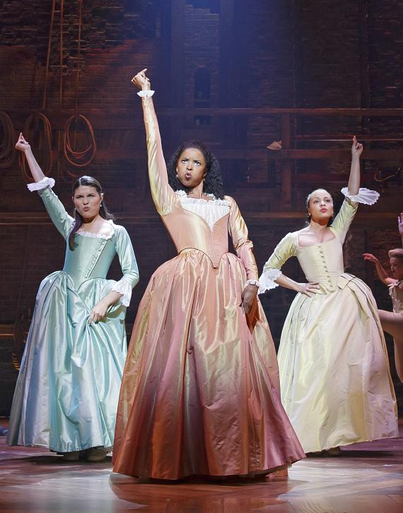 Phillipa Soo, Renee Elise Goldsberry and Jasmine Cephas Jones