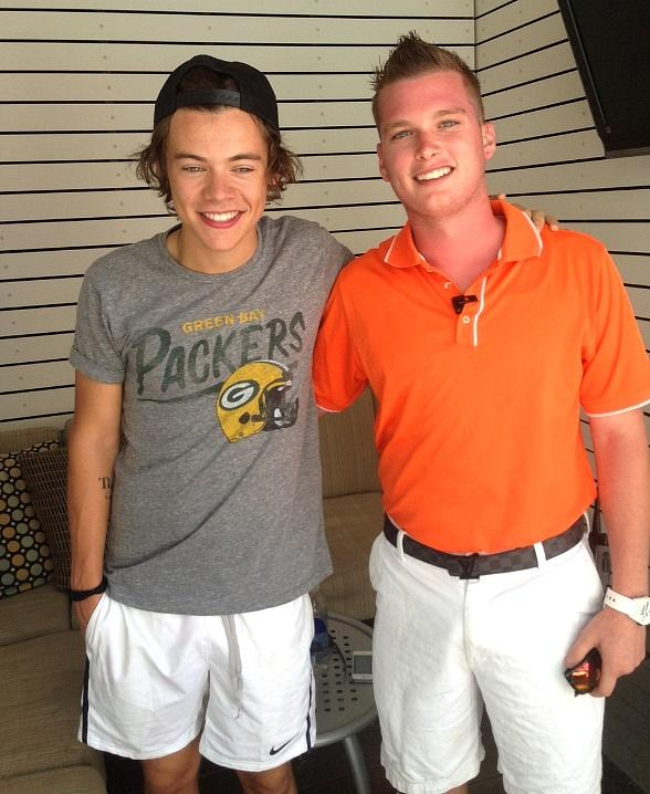 Harry Styles with VIP Host at Palms Pool