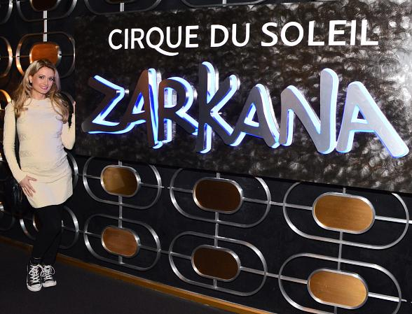 Holly Madison Attends Zarkana by Cirque du Soleil