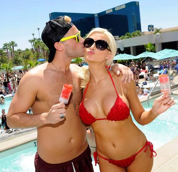 Holly Madison and Josh Strickland at WET REPUBLIC