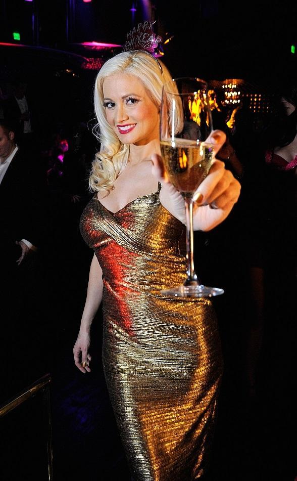 Holly Madison celebrating New Year's Eve with Ciroc at Gallery Nightclub