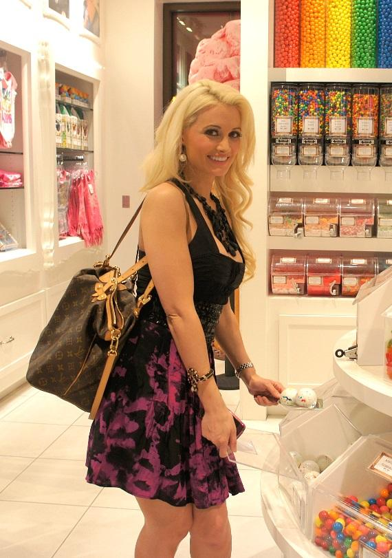 Holly Madison shops for sweets at the flagship Sugar Factory retail store at Paris Las Vegas