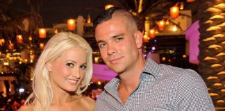 Holly Madison with Mark Salling at Marquee Nightclub