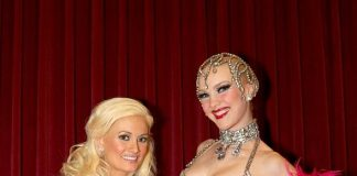 Holly Madison and Kristina at the Showgirl Competition at Jubilee