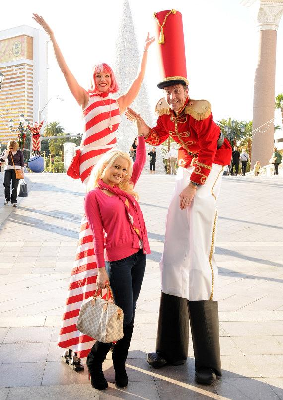 Holly Madison with Winter in Venice cast members