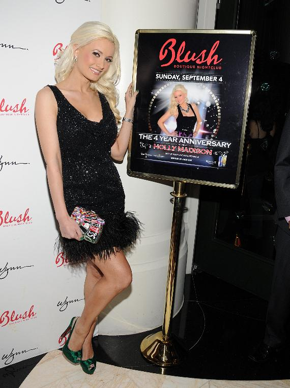 Holly Madison on the red carpet for Blush Boutique Nightclub's 4th Anniversary Party
