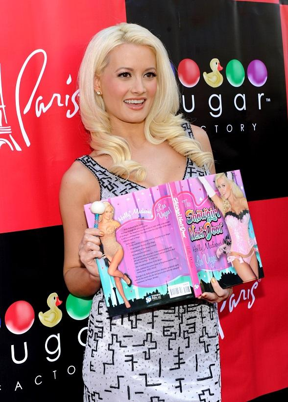 Holly Madison on the red carpet at Sugar Factory inside Paris Las Vegas