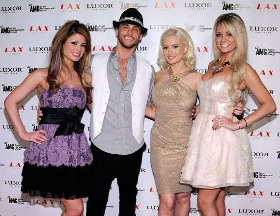 Laura Croft, Josh Strickland, Holly Madison and Angel Porrino at LAX Nightclub