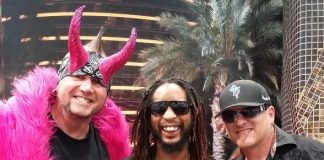 Counting Cars stars Horny Mike (L) and Roli (R) with Lil Jon (C)