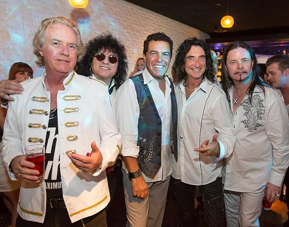 Howard Leese, Paul Shortino, Clint Holmes, Robin Mc Auley and John Payne