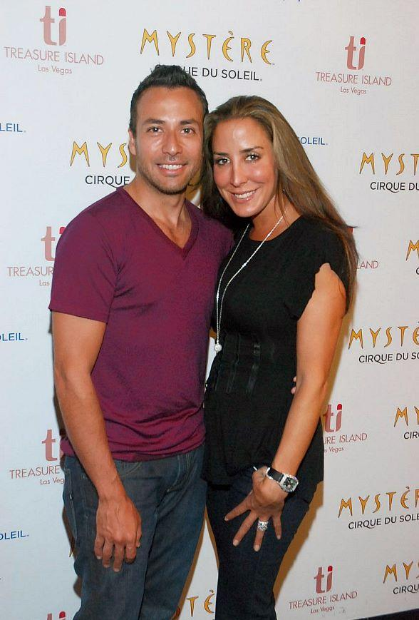 Backstreet Boy Howie Dorough and wife Leigh at Mystère Cirque du Soleil at Treasure Island
