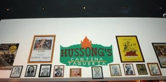 Hussong's Cantina Charcoal Wall of Fame