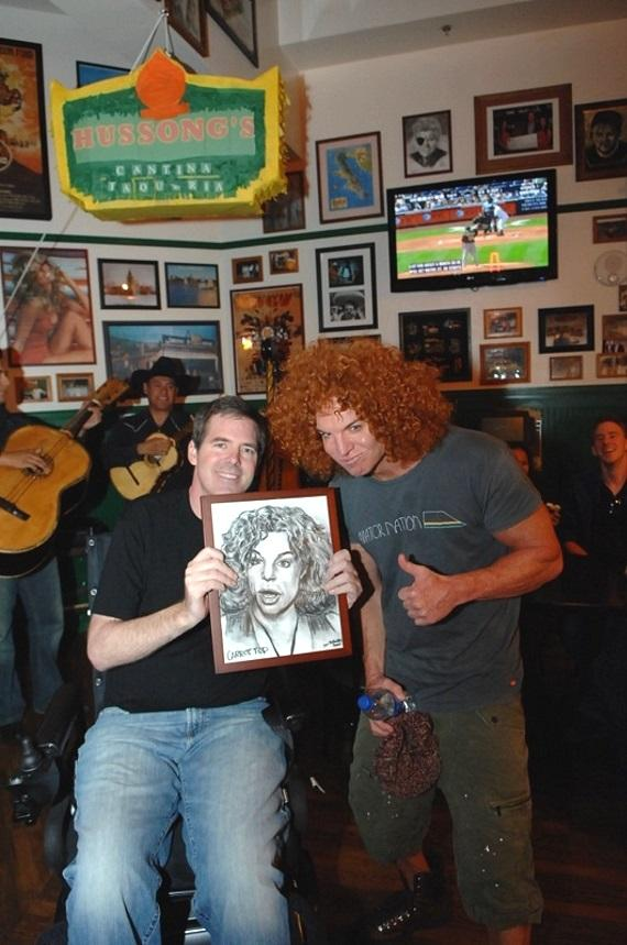 Scott Frost and Carrot Top at Hussong's Cantina