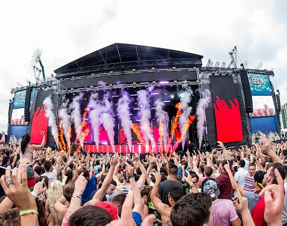 Stage at Electric Daisy Carnival in London