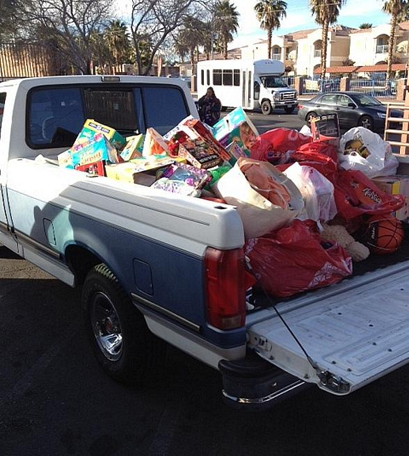 Truckload of toys