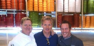 Exec Chef of Caesars Palace Charles Wilson, Gordon Ramsay and Exec Chef of Bacchanal Buffet Scott Green