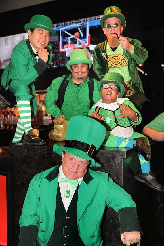 Leprechauns with reality star Shorty Rossi at the D Las Vegas