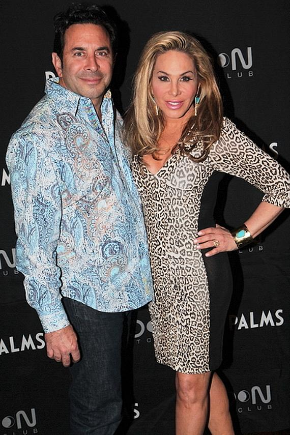 Adrienne Maloof and Dr. Paul Nassif at Moon Nightclub