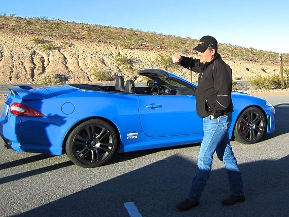 Andy Spinks with the Jaguar XKR-S