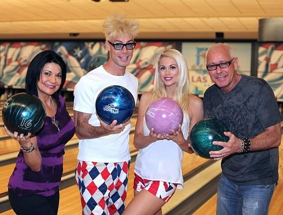 Murray SawChuck and Chloe Louise Crawford at Nevada SPCA Celebrity Bowling Tournament