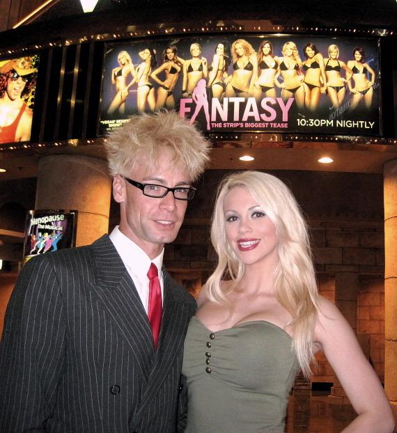 Comedy Magician Murray SawChuck with wife Chloe Crawford at FANTASY in Luxor Las Vegas