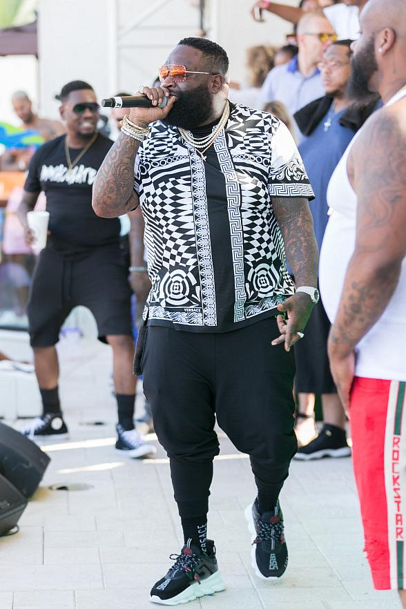 Rick Ross and YesJulz Hit Up DAYLIGHT Beach Club Las Vegas