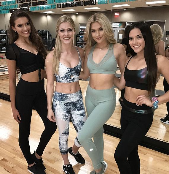 Contestants at Life Time Workout