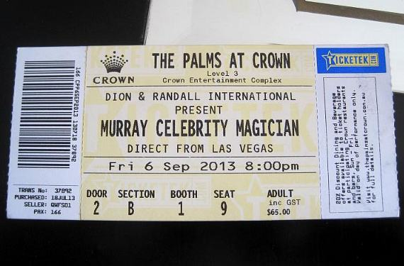 "Ticket to ""Murray Celebrity Magician"" at The Palms at Crown"