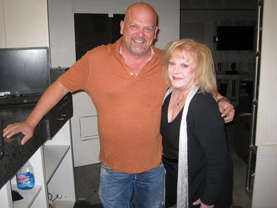 Rick Harrison with Gay Blackstone on set of Pawn Stars