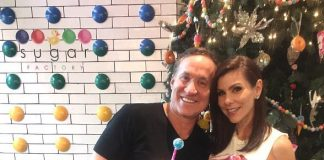 """The Real Housewives of Orange County"" Stars Terry & Heather Dubrow Dine at Sugar Factory in Las Vegas"