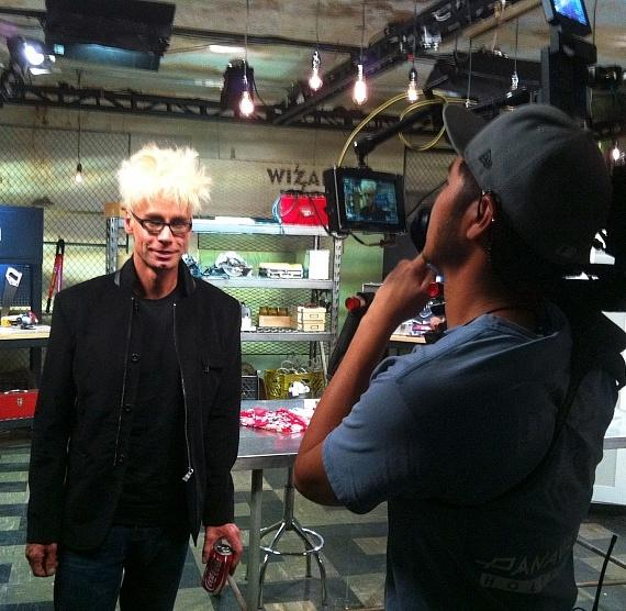 Murray tapes a segment for Wizard Wars on SYFY