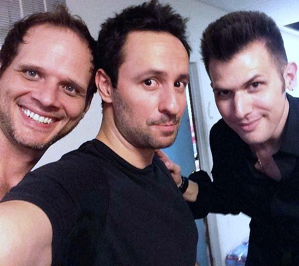 (Pictured: Joel Meyers and Nathan Kranzo with Wizard Wars creator/producer Rick Lax (center)