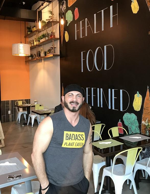 Pro Wrestler and Author Austin Aries at Portion Control at The Gramercy in Las Vegas