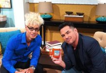 """Murray SawChuck with Dean Cain, host of The CW's """"Masters of Illusion"""" on Access Hollywood"""