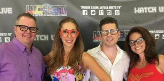 """Comedy Magician Mike Hammer appears on WCOBM's """"Geeks R Sexy"""" with Michelle """"Roxy"""" Davis"""