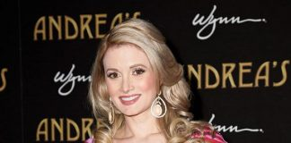 Holly Madison at Andrea's grand opening