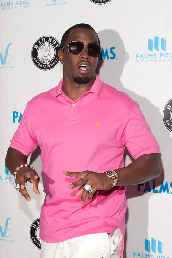P Diddy hosts at Palms Pool and Bungalows at The Palms Resort in Las Vegas