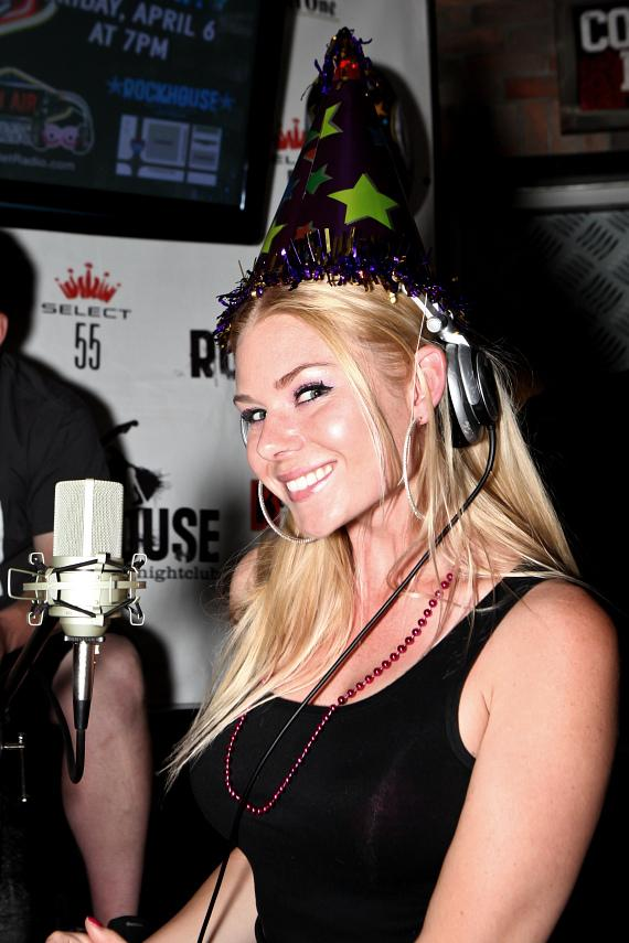 """Co-host Christina """"CC"""" Christensen celebrates the 4th Anniversary of """"On Air with Robert & CC"""" at The Rockhouse in Las Vegas"""