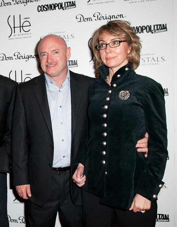"""Gabrielle """"Gabby"""" Giffords and Mark Kelly at Grand Opening of SHe in Las Vegas"""