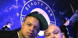 Dr Dre's son Curtis Young spotted at Beauty Bar Las Vegas