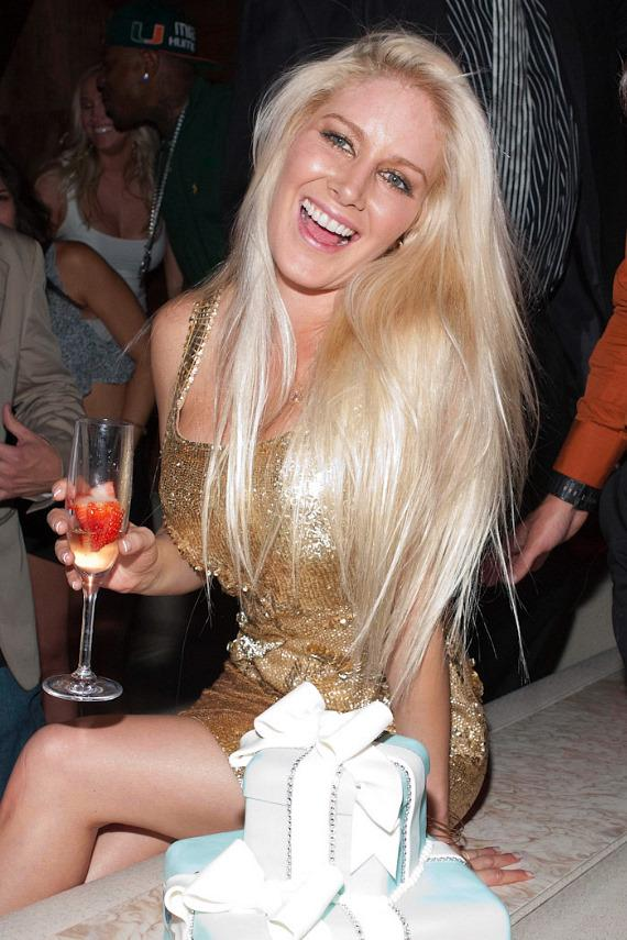 Heidi Montag with birthday cake at Vanity Nightclub in Hard Rock Hotel