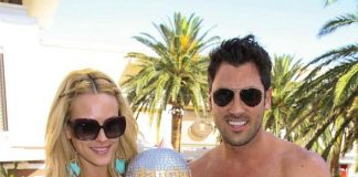 Peta Murgatroyd and Maksim Chmerkovskiy at Encore Beach Club